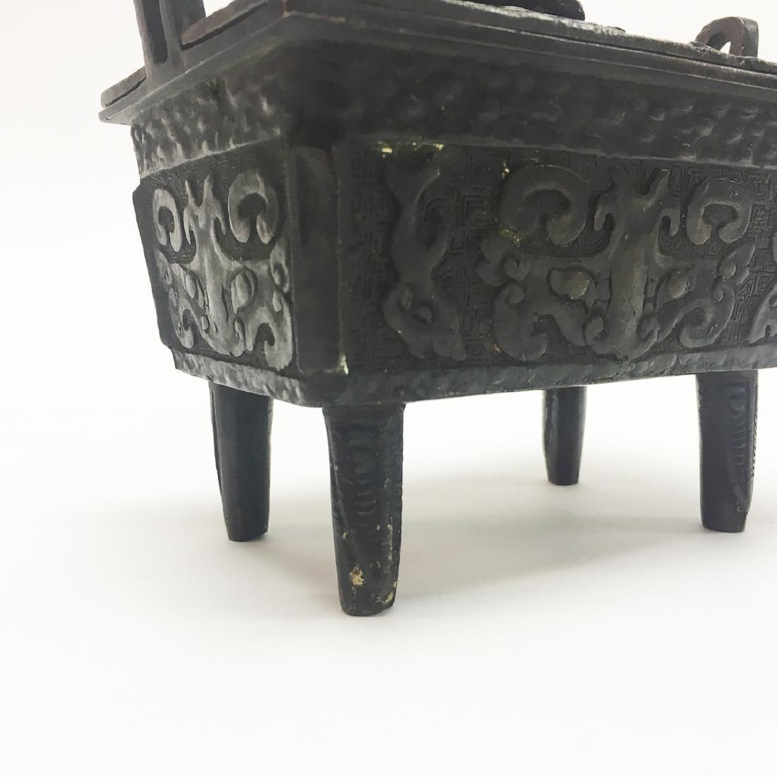 Chinese Bronze Incense Burner - 5
