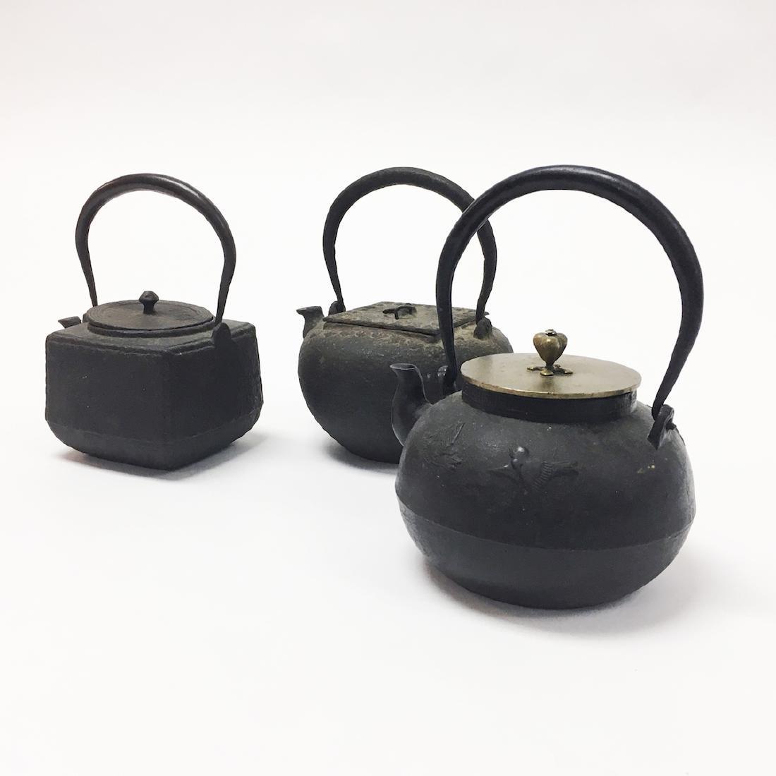 Three Asian Iron Teapots - 2