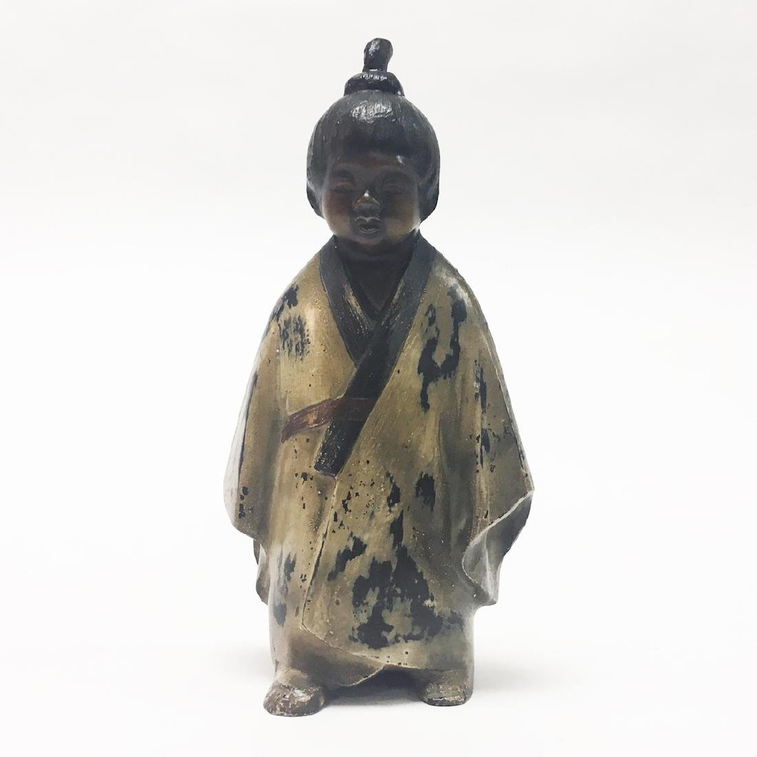 Japanese Bronze Figure of a Boy