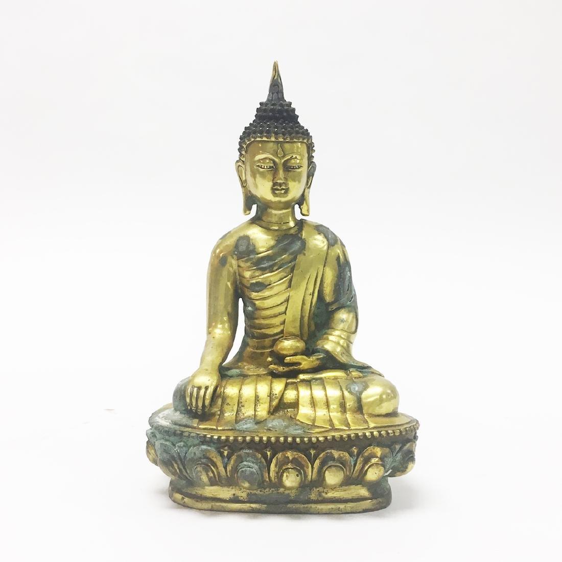 Late 19th Century Gilt Bronze Buddha