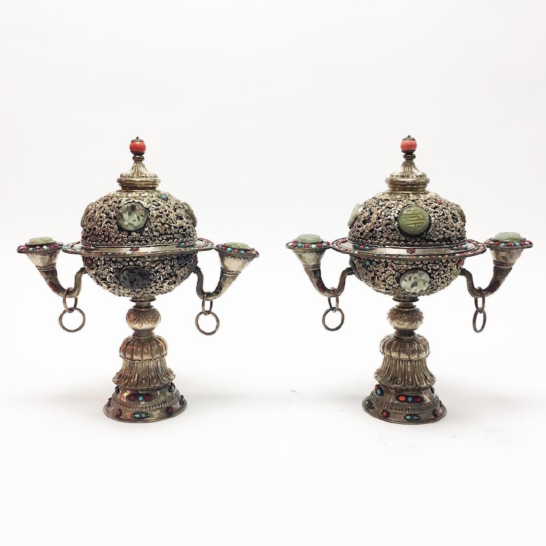 Two Mongolian Urns