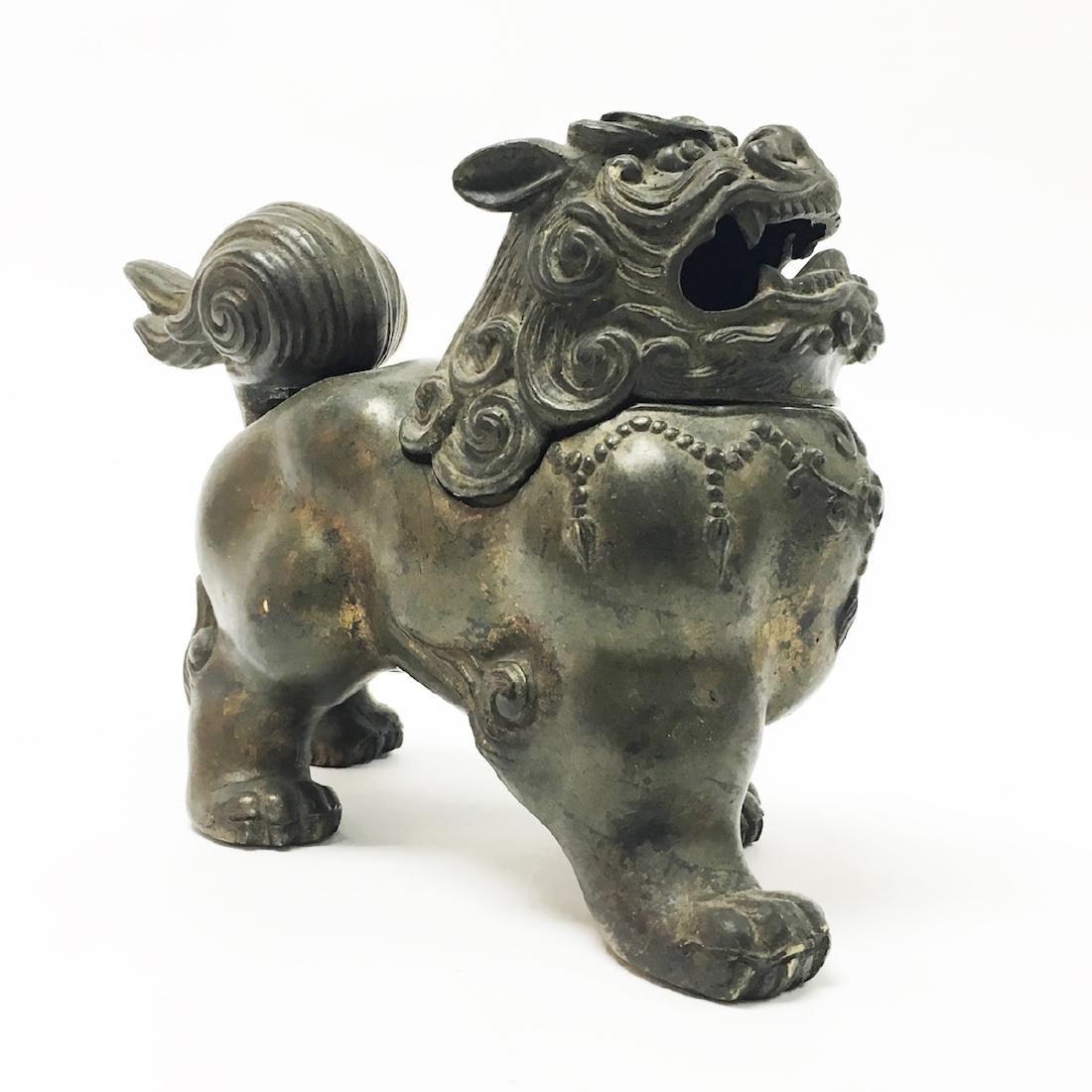 Chinese Bronze Foo Dog Censor - 2