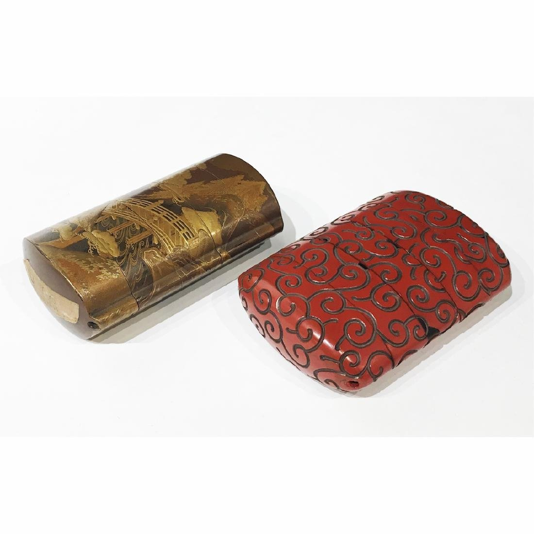 Two Japanese Lacquer Inro