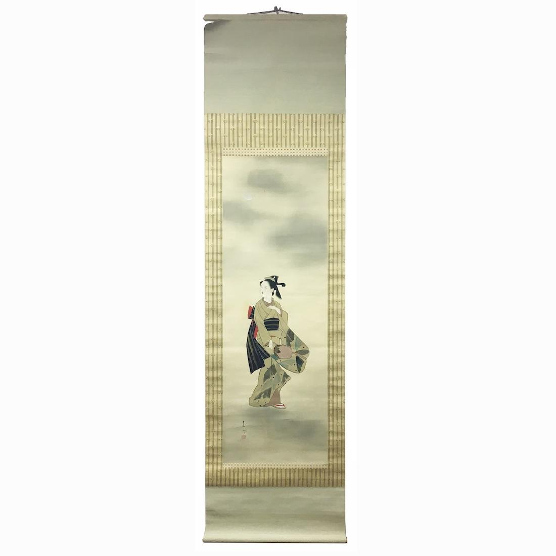 Japanese Scroll 20th Century Painting