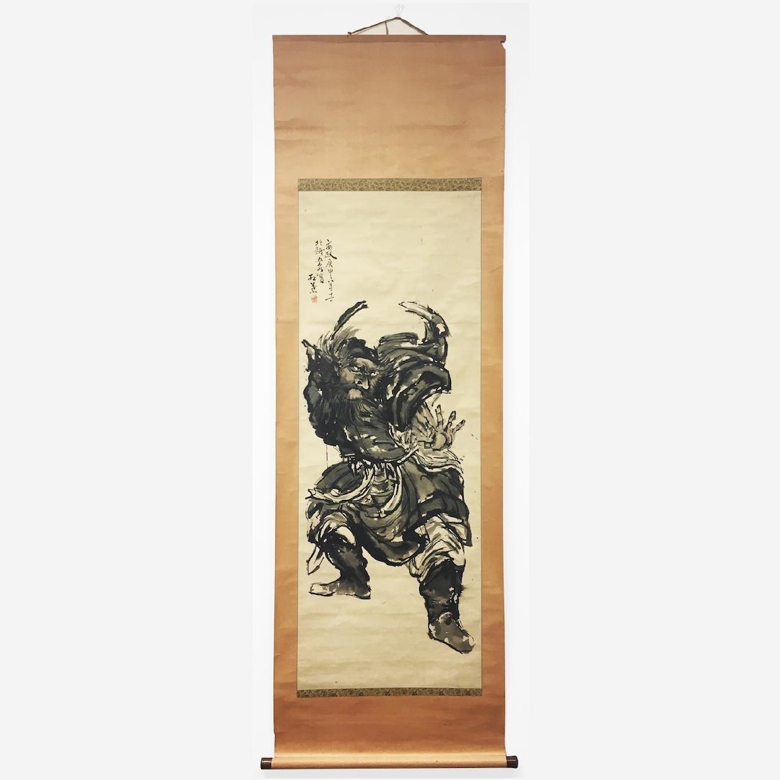 Japanese Scroll, Depicting Shoki