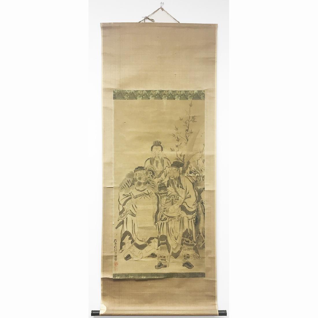 Japanese Scroll of Three Chinese Scholars