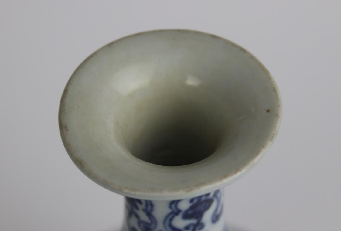 Chinese Blue and White Vase, Marked - 4