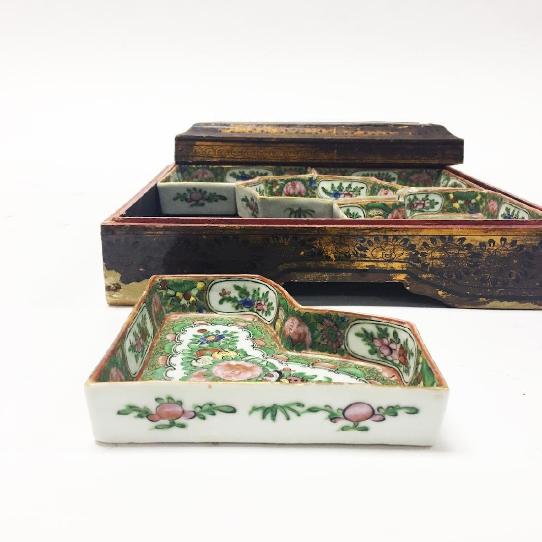 Chinese Rose Medallion Serving Dishes - 3