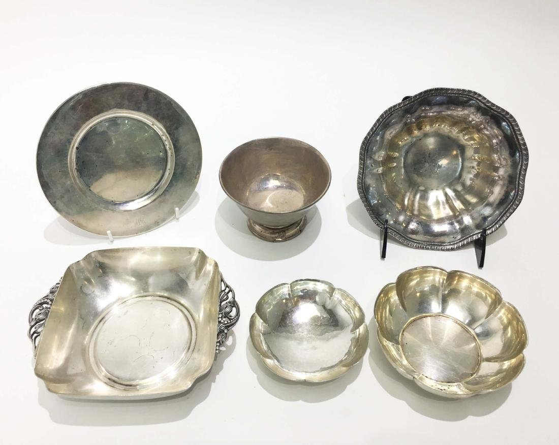 A Group of Sterling Silver Dishes