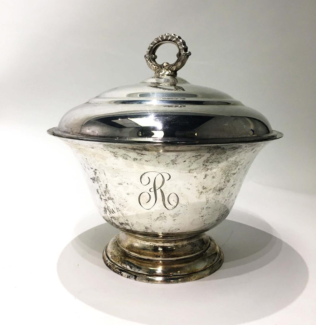 Stieff Sterling Silver Punch Bowl with Rothschild - 2