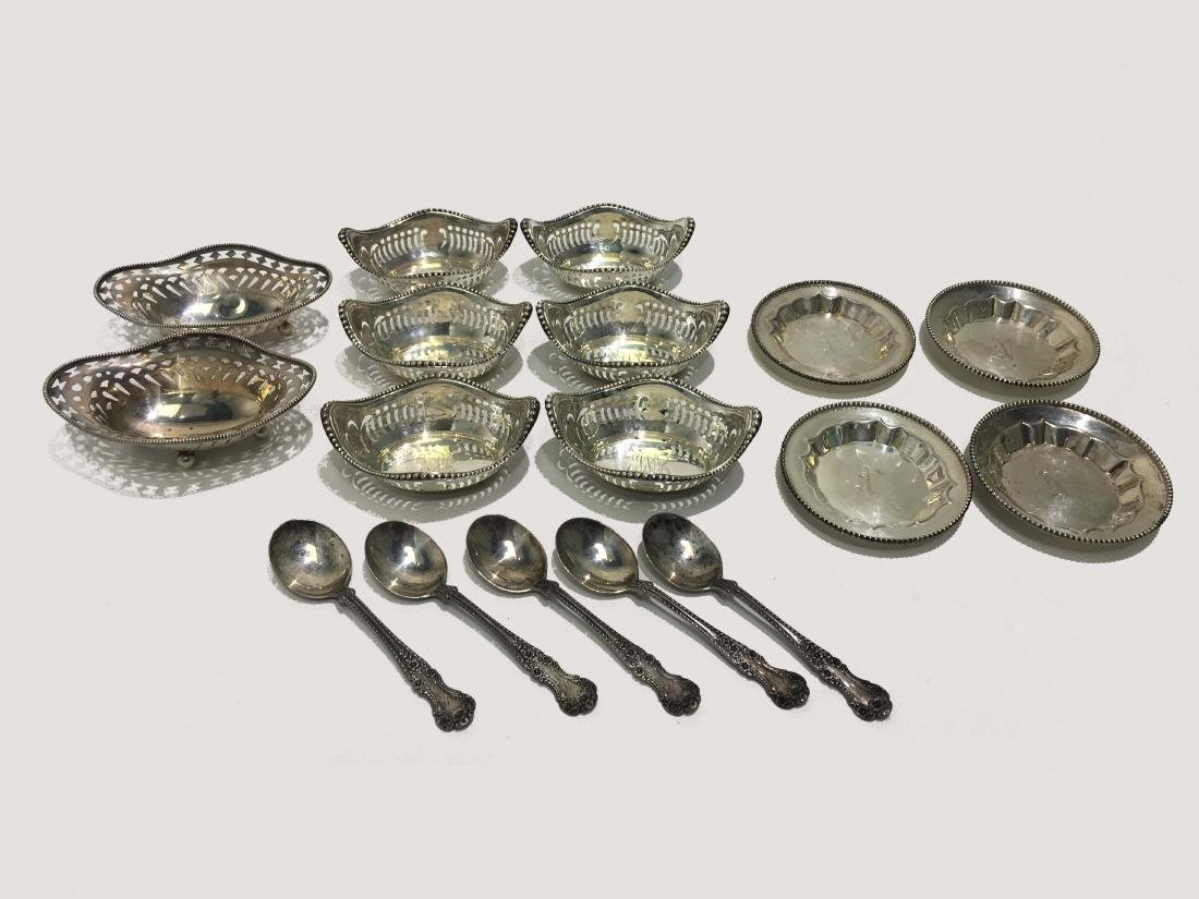Sterling Silver Table Salt Dishes and Spoons
