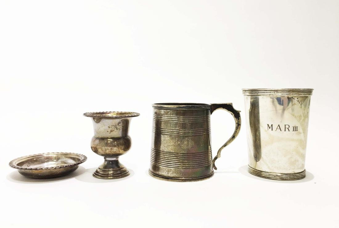 Sterling Silver Kiddish Cups and Tankard