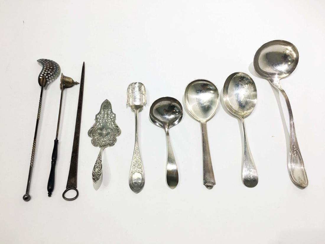 A Group of Sterling Silver Utensils
