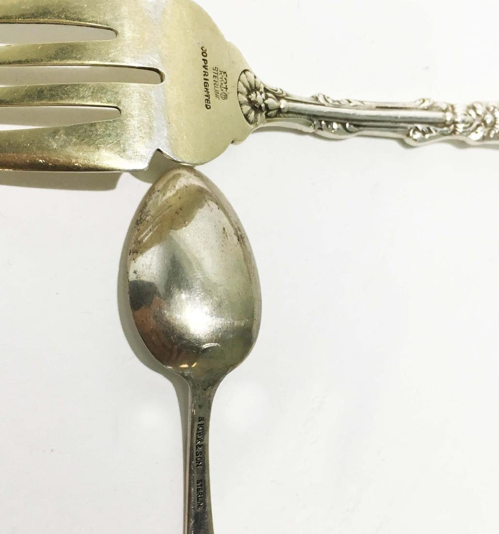 4 Sets of Sterling Silver Spoons and Forks - 4