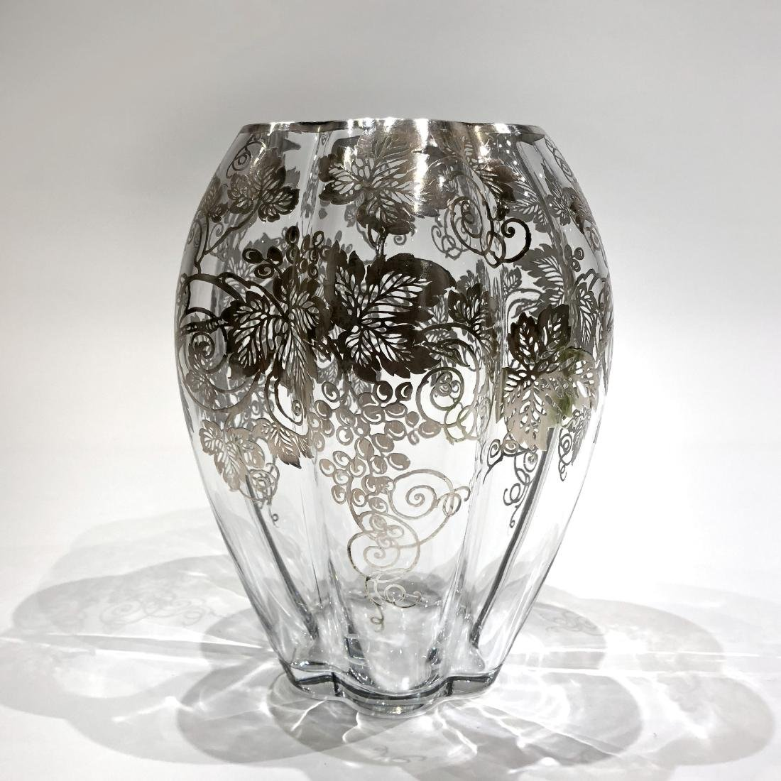 Four Japanese Silver Overlay on Glass Pieces - 4