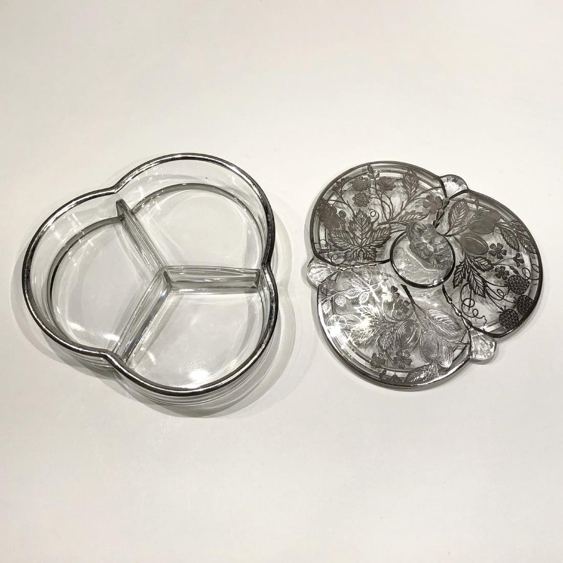 Three Japanese Silver Overlay Glass Pieces - 4