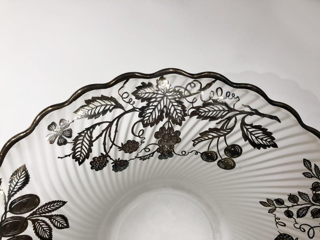 Three Japanese Silver Overlay Glass Dishes - 2