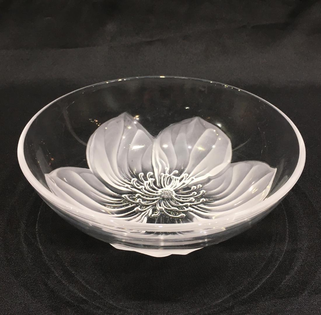 Japanese Sasaki Flower Crystal Bowl