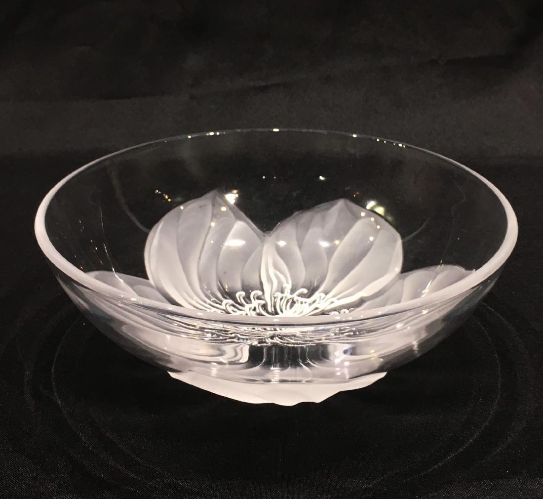 Japanese Sasaki Flower Crystal Bowl - 3