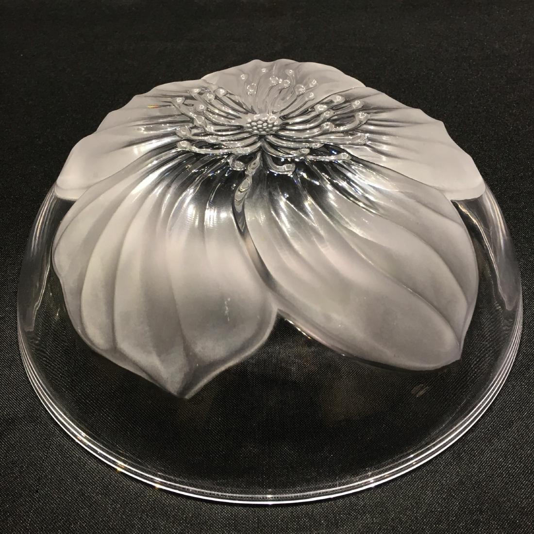 Japanese Sasaki Flower Crystal Bowl - 4