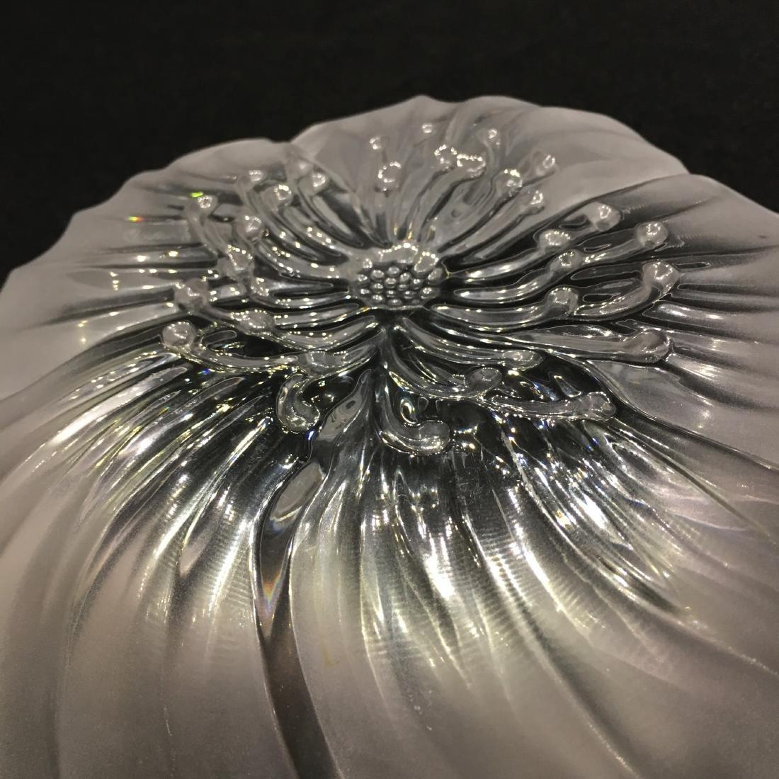 Japanese Sasaki Flower Crystal Bowl - 5