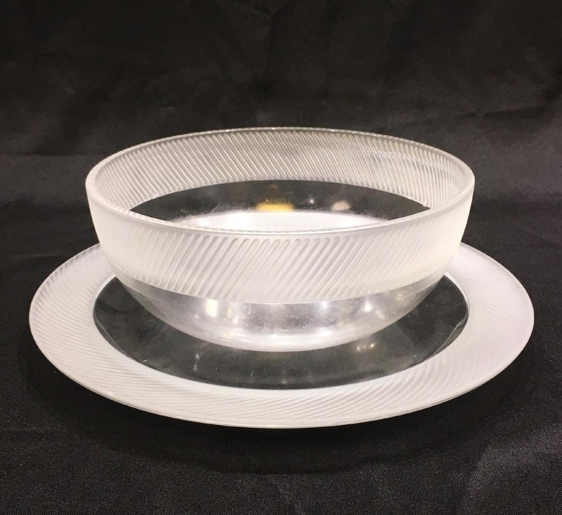 Japanese Sasaki Crystal Plate and Bowl
