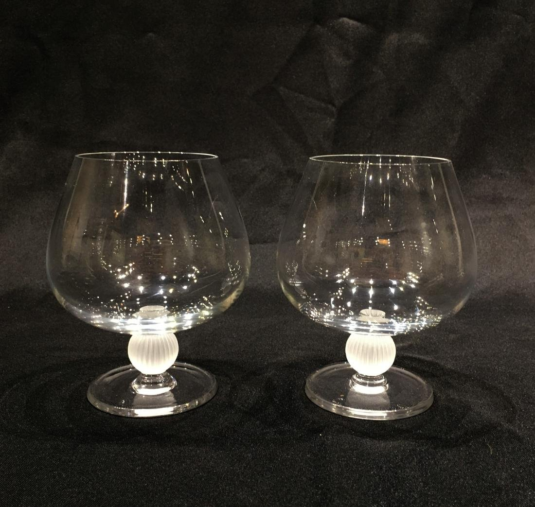 Pair of Japanese Sasaki Crystal Brandy Snifters