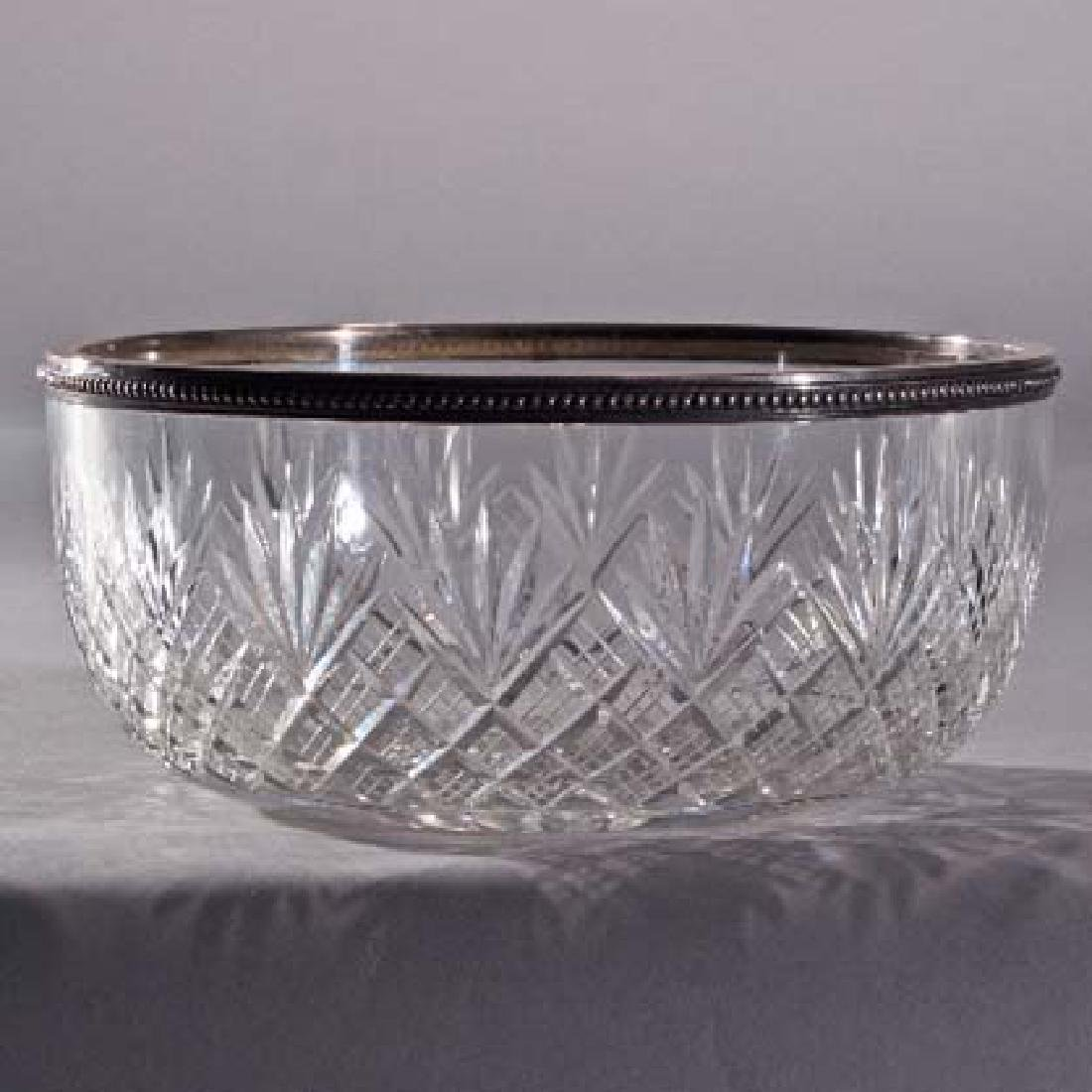 Crystal & Silver Art Deco Bowl