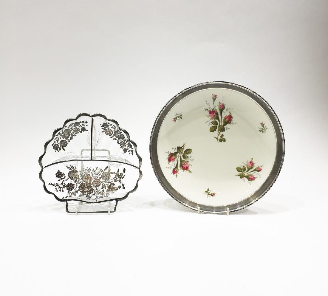 Two Silver Overlay Dishes