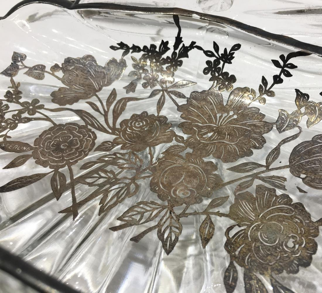 Two Silver Overlay Dishes - 2