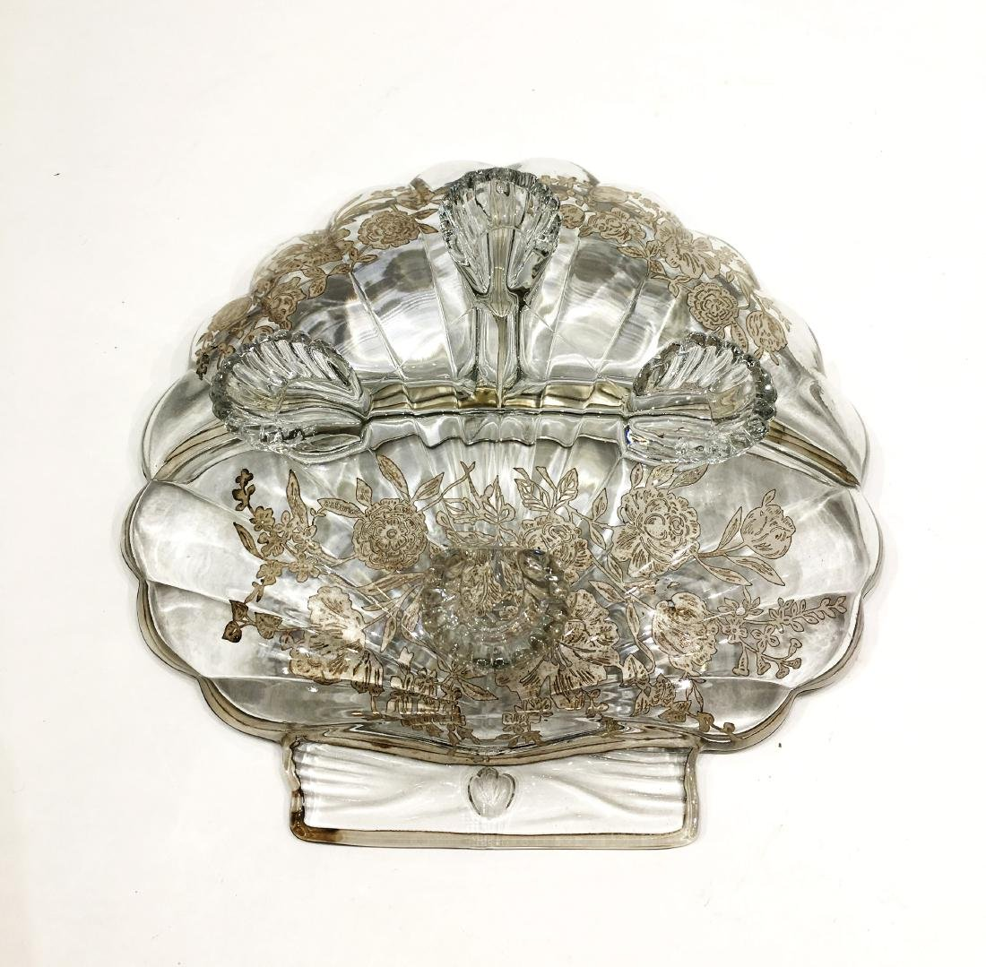 Two Silver Overlay Dishes - 5