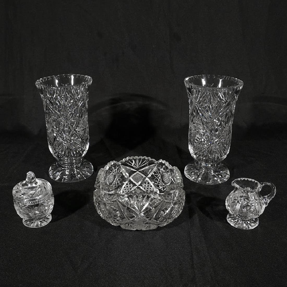Five Pieces of Cut Crystal
