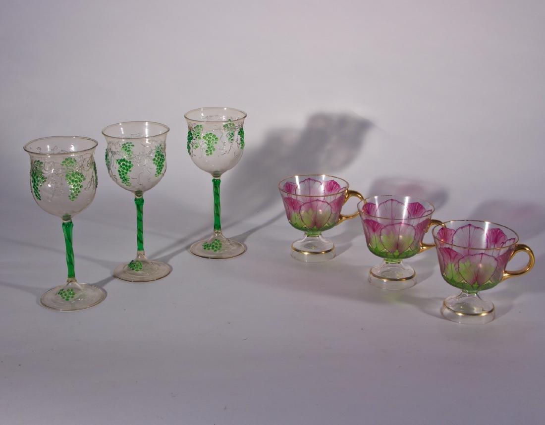 6 Antique Venetian & Austrian Glasses