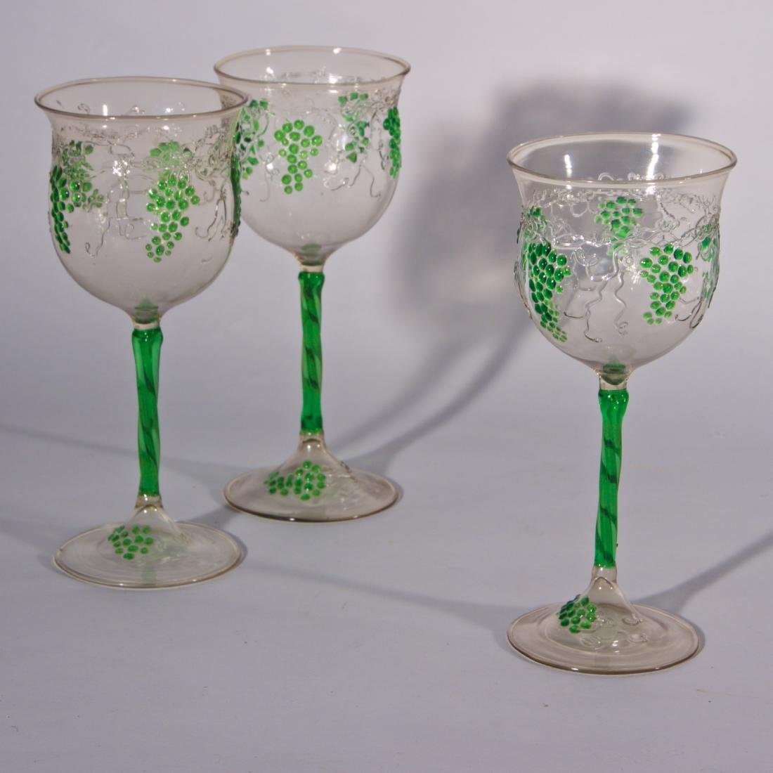 6 Antique Venetian & Austrian Glasses - 2