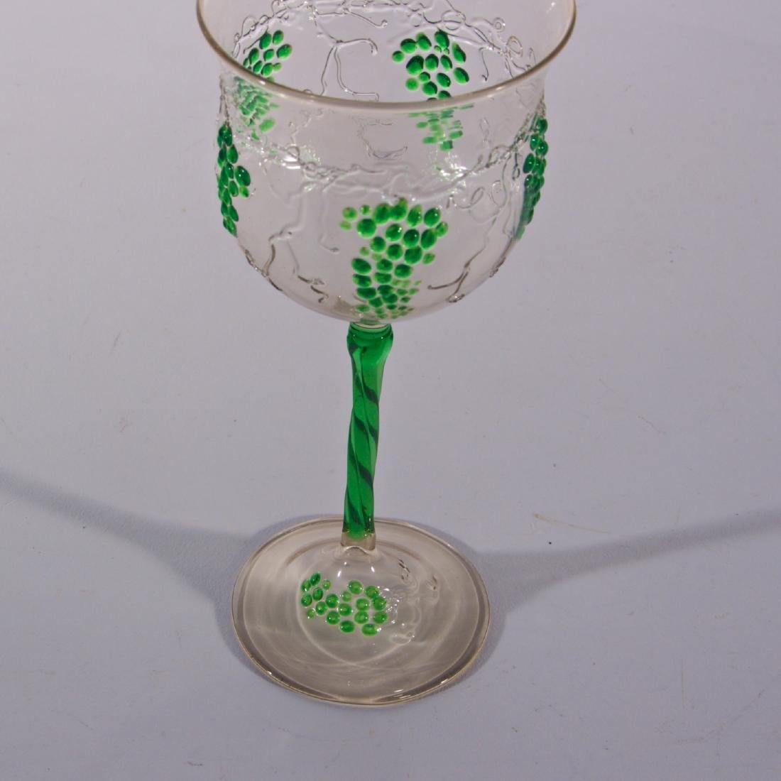 6 Antique Venetian & Austrian Glasses - 4