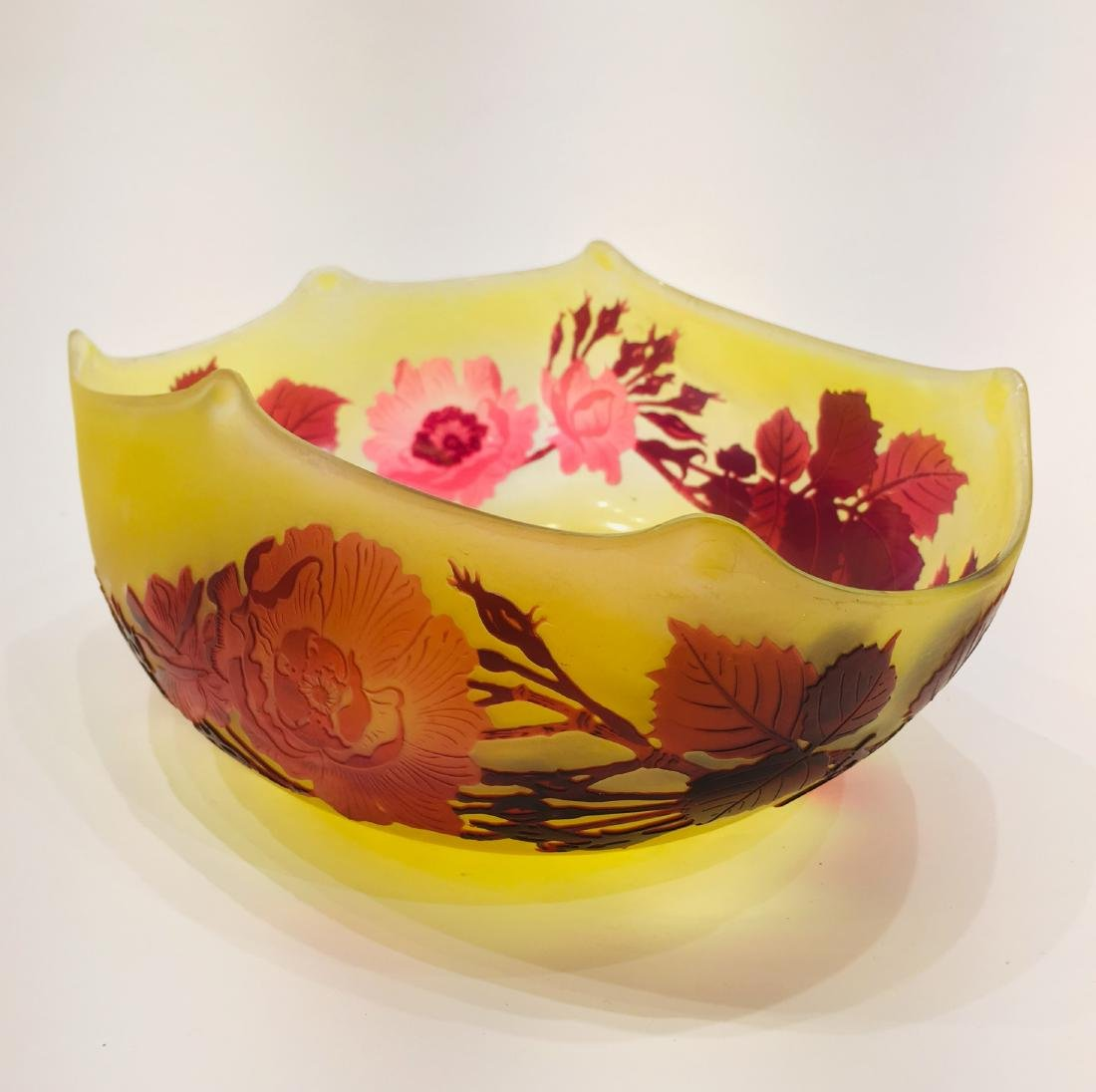 Fine Galle Glass Bowl, Signed