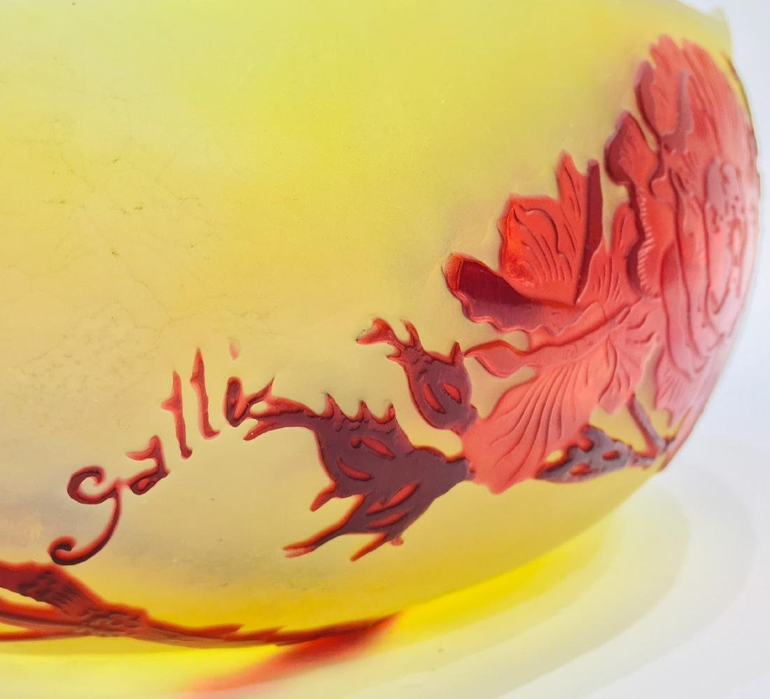 Fine Galle Glass Bowl, Signed - 4