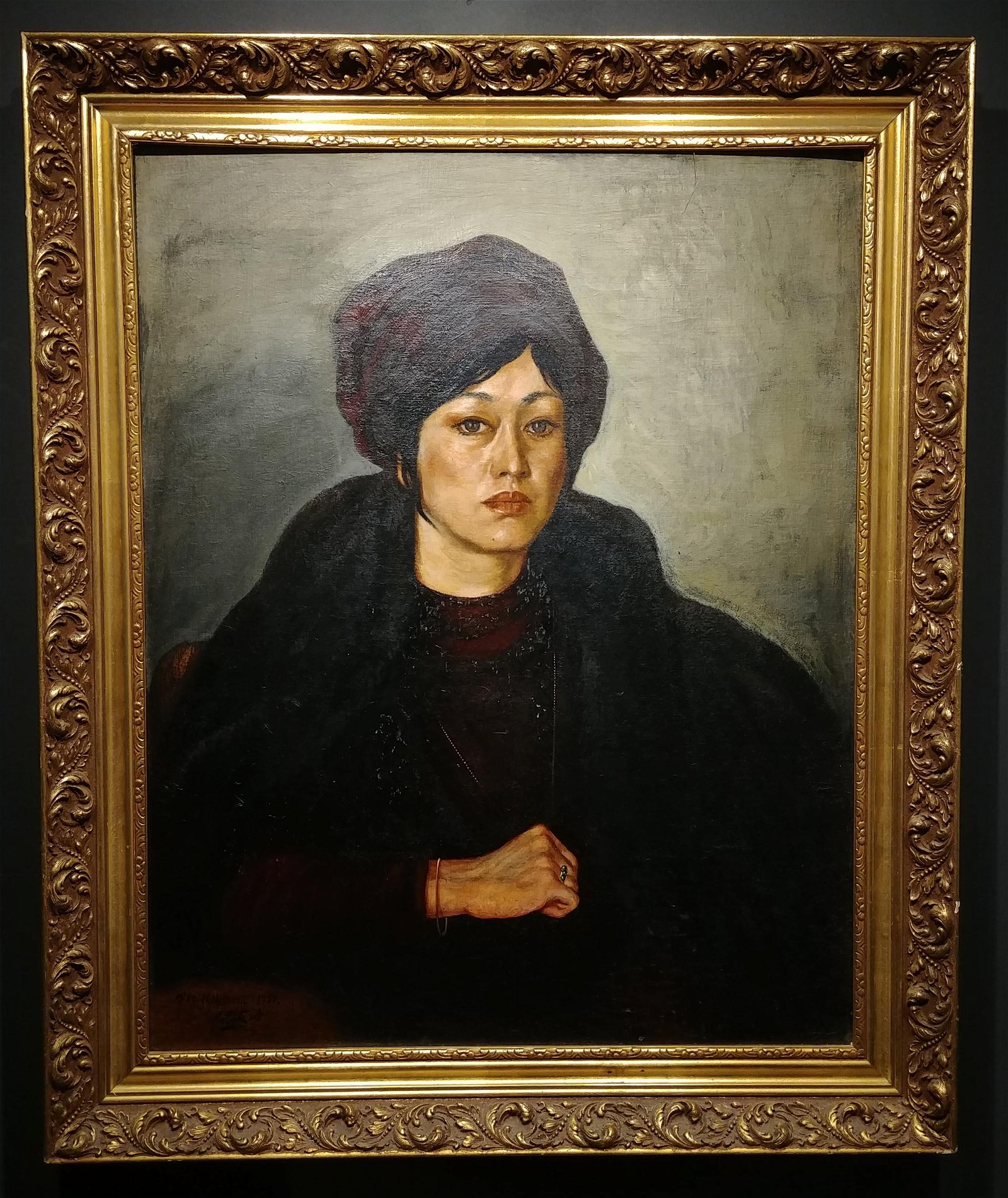 Oil On Canvas Portrait of Miss N. Higuchi