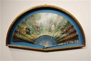 An Antique Framed French Fan