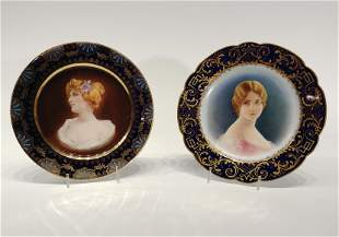 Two Hand Painted Royal Vienna Plates