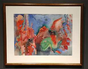 Kenneth Lithgow Work on Paper signed lower right