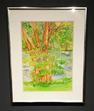 Wallkill RiverSpring by Kenneth Lithgow signed lower