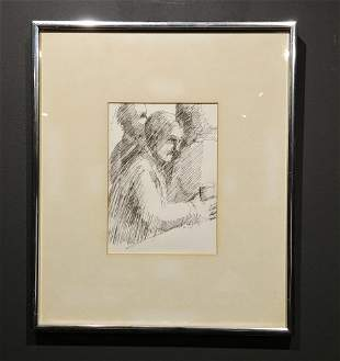 Kenneth Lithgow Drawing on Paper signed lower right