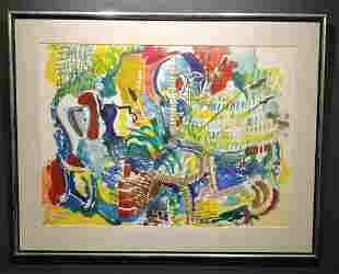 Kenneth Lithgow Watercolor on Paper signed lower
