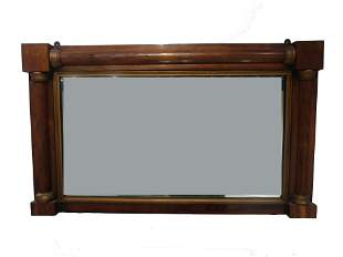 Antique English Wooden Framed Mirror