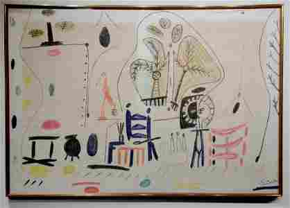 Oil on Canvas, Signed Picasso, The Studio at La