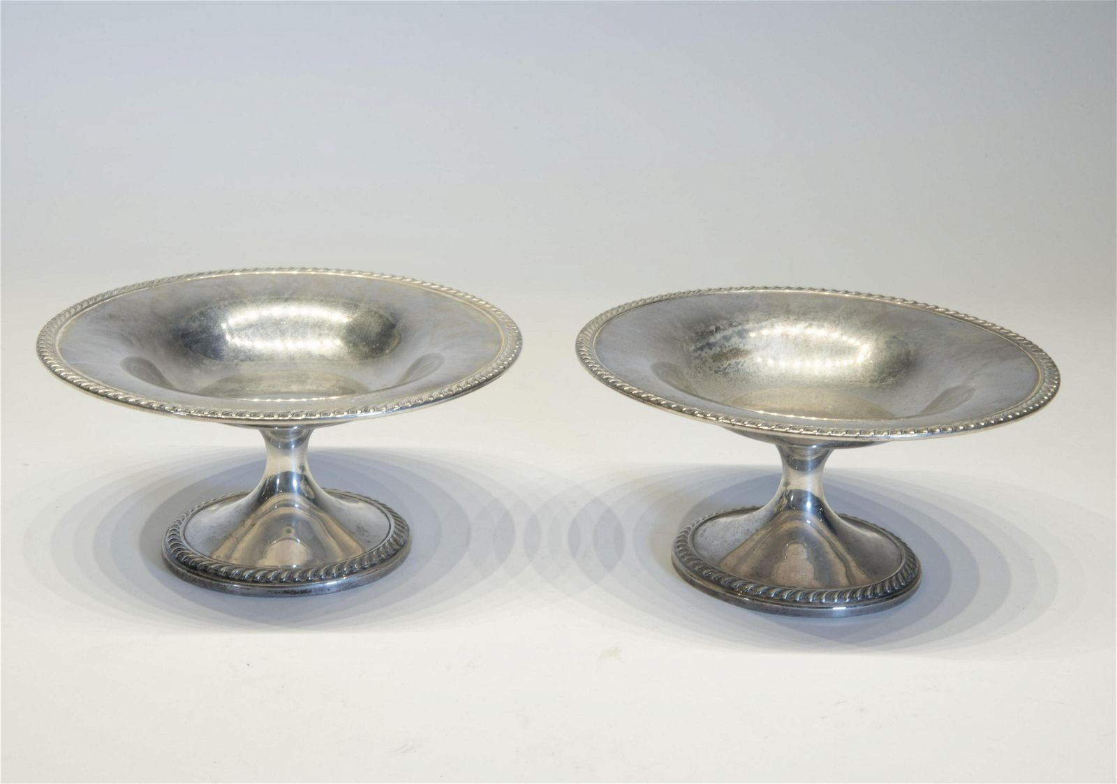 Pair of Sterling Silver Tazzas
