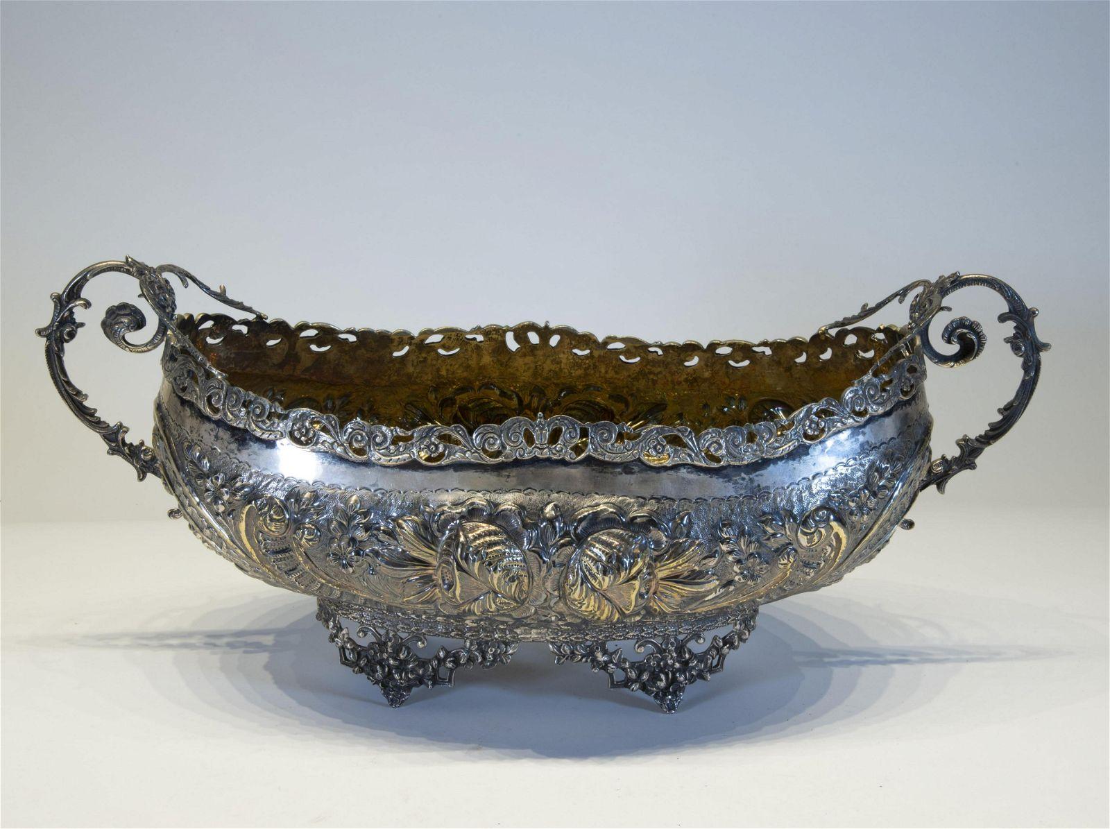 Portuguese Silver Centerpiece