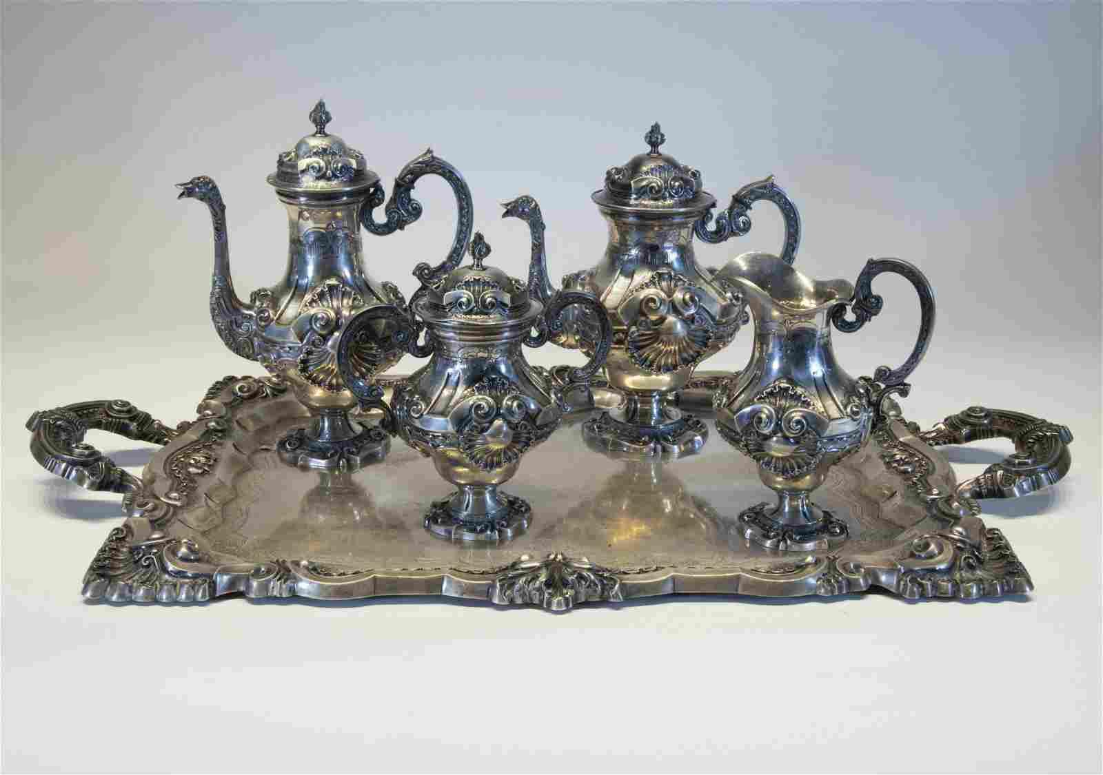 Portuguese Silver Tea & Coffee Service