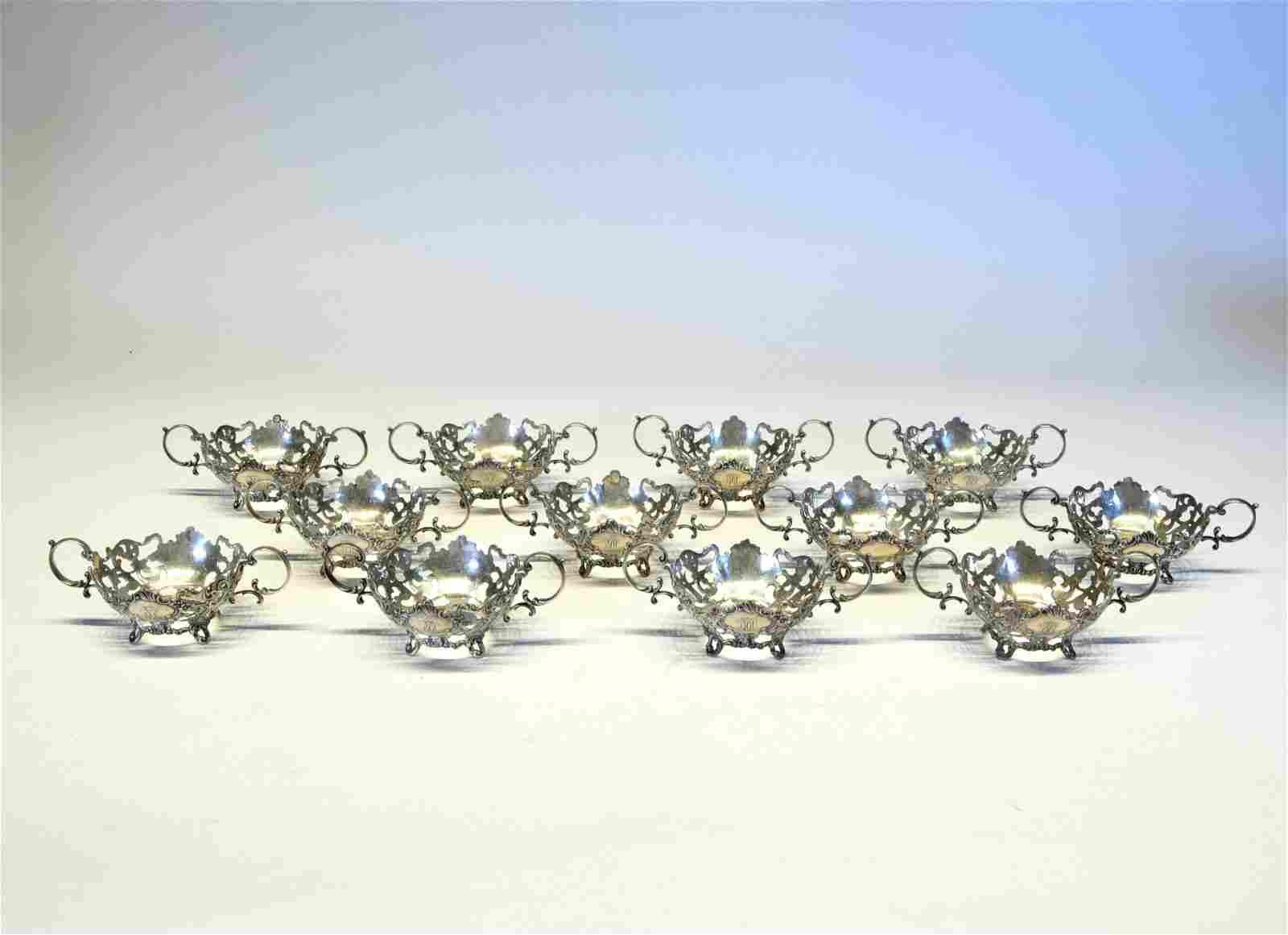 Fancy Sterling Silver Sherbet Glass Holders